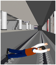 乘客坠落站台